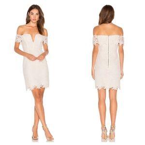 ASTR the Label White Lace Off-Shoulder Dress NWOT